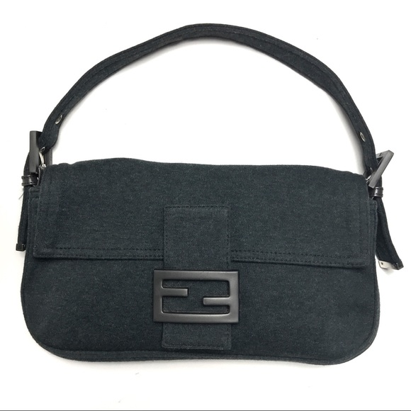 08db1e5311ea Fendi Handbags - Authentic Fendi Classic Baguette Bag Charcoal Gray